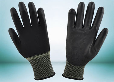 China Safety Working PU Coated Gloves Silk Screen Logo Printing Smooth Surface supplier