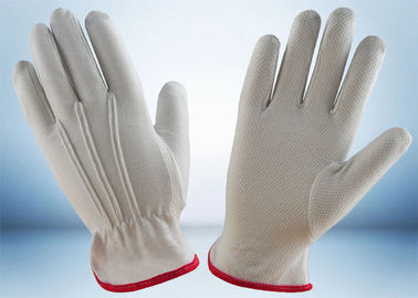 China Industrial Cotton Work Gloves Width 8.8cm - 10.6cm With One Elastic Line supplier