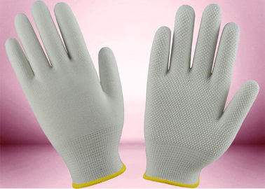 China Slip Proof Cotton Knitted Gloves 13 Gauge 100% Polyester Seamless Gloves supplier