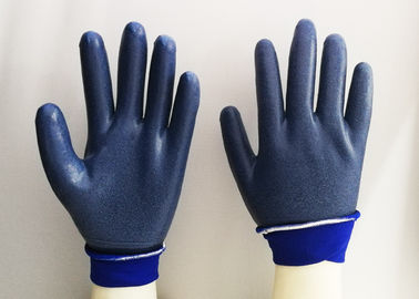 Foam Eva Latex Dipped Gloves , Latex Rubber Gloves Breathable Knitting