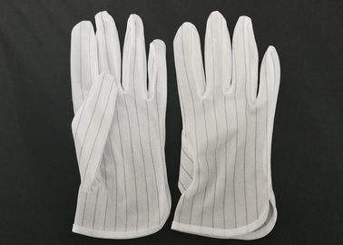 China Polyester Lint Free Electrostatic Discharge Gloves In Electronic Assembly supplier