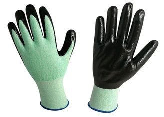 15G Knitted Nitrile Exam Gloves Green Color Increased Efficiency At Work