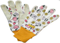China Drill PVC Polar Dots Printed Cotton & Polyester Women Gardening Working Gloves 9.5' factory