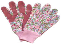 China Back Elastic Line Mixed Cotton / Poly Working Hands Gloves With Knit Wrist factory