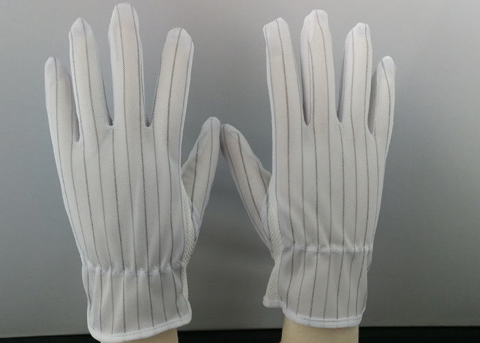 ESD Stripe Splicing Anti Static Hand Gloves Point Plastic Washable
