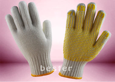 Wear Resistant Knitted Hand Gloves , PVC Dotted Cotton Gloves Free Samples