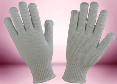 PVC Dots Cotton Knitted Gloves Seamless Construction Non Toxic Materials