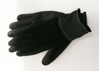 Industrial PU Coated Gloves Excellent Moisture Absorbency 21cm - 25cm Length