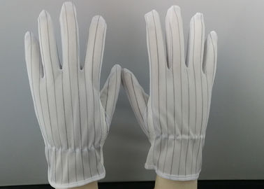 China ESD Stripe Splicing Anti Static Hand Gloves Point Plastic Washable Material factory