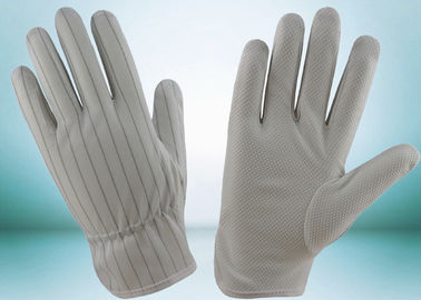 China Lint Free Anti Static Gloves Polyester With Conductive Carbon Lines Reusable factory