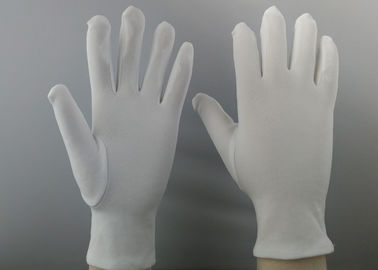 Heavy 100D Clean Room Sterile Gloves , Static Resistant Gloves Common Binding