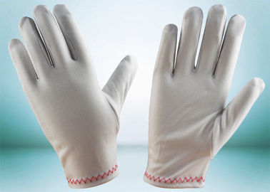 Red Stitches Line Lint Free Gloves Large Size With Common Binding ZS15-008