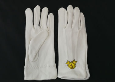 Ergonomic Design Military White Dress Gloves , Parade Ceremonial Glove 21s Cotton Yarn