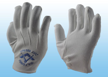 Bleached White Marching Band Gloves Great Flexibility With Plastic Button