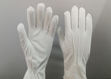 100% Tricot Nylon Marching Band Gloves With Three Stitches Lines On Back