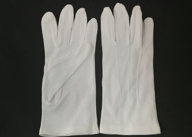 China Yarn 32s Marching Band Gloves With Grip , Cotton Parade Gloves Three Stitches Lines factory
