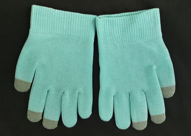 Blue Colour SPA Cotton Cosmetic Gloves Highly Effective Softening Hands