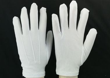 Bleached White Lint Free Gloves 23g / Pair Weight 100D Yarn Good Moisture Absorbency
