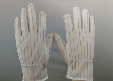 China Premium Quality Anti Static Gloves Silk Screen Logo Printing Flexible Knitting factory