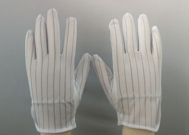 China ESD PVC Dotted 	Anti Static Gloves Three Stitches Lines Design On Back factory