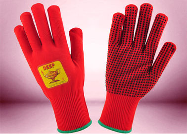 PVC Dots Type Freezer Wear Gloves Environmental Friendly Nylon Materials